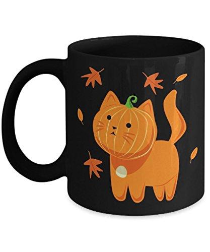 Funny Halloween Cat Coffee Mug Cat Pumpkin - Happy Halloween Day Mugs Gift Coffee Cup - Halloween Great Gifts Idea for Men, Women, Kids, Mom, Dad, Son