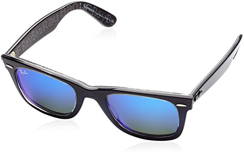 Ray-Ban WAYFARER - TOP BLUE GRAD ON LIGHT B Frame MIRROR BLUE Lenses 50mm - Ray Rb2140 Ban Wayfarer Sunglasses