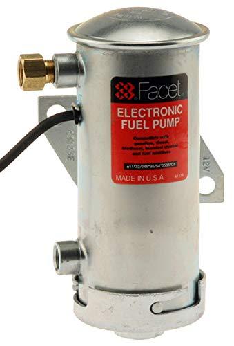 (Facet 40133N, Facet Cylindrical 12v Fuel Pump, 1/8 NPT, 4-5 psi, No-Filter)