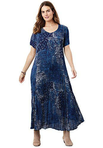 Woman-Within-Plus-Size-Petite-Crinkle-Dress