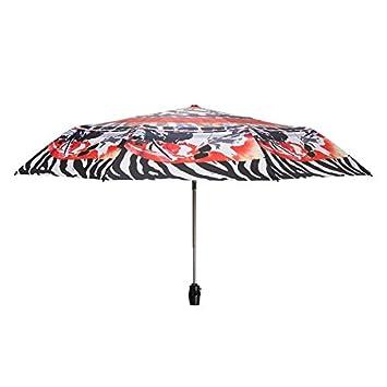 Paraguas plegable automatico Mujer niño Hombre an Completamente automático - Vinilo Resistente a la luz Solar Protección UV: Amazon.es: Hogar
