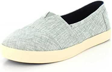 TOMS Women's Avalon Slip-On Drizzle Grey Lurex Woven Loafer