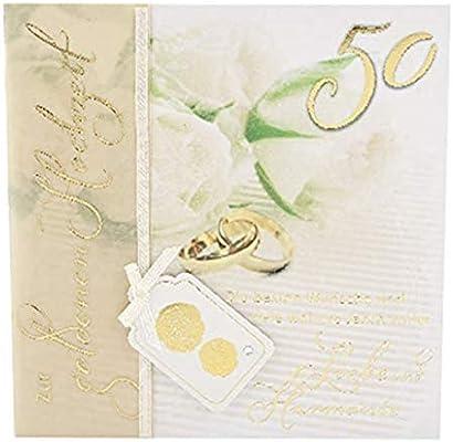 Depesche 4907048 Glückwunschkarte Emotions In Edlem Design Goldene Hochzeit Mehrfarbig