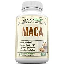 MACA Root Dietary Supplement - Energy Production & Emotional Wellness. Balance Hormones, Support Reproductive Health Men, Women & Seniors, Aid Libido, Stamina & Desire. 100% All Natural & Non-GMO