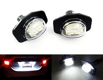 2 x LED matrícula luz blanca Canbus para 2008 hasta 2008 Alpard Auris Corolla ist Urban Cruiser: Amazon.es: Coche y moto