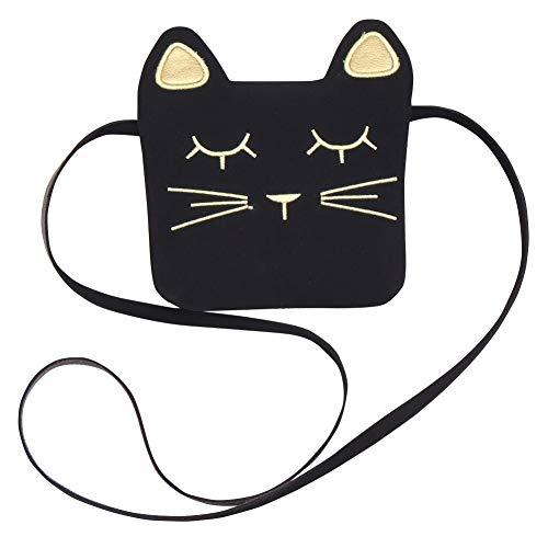 Black Bolso de del la teléfono Las la Hombro móvil del de para Muchacha de Moneda Cruzado la la Mujeres Gato del señora lzndeal de Tarjeta Dinero 4qcRwRd0