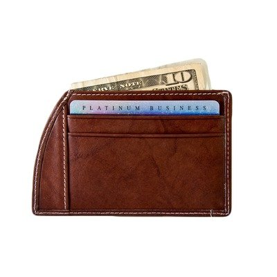 Rogue Brown Weekender Wallet w/Wallet Guard made in Maine