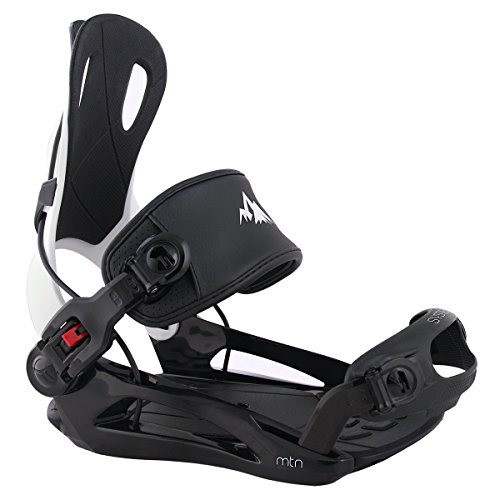 System MTN Men's 2019 Rear Entry Flow Style Snowboard Bindings (Large) - Mens Snowboard Binding