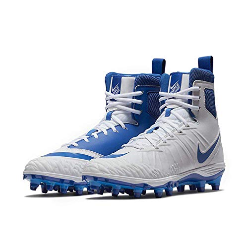 Nike Men's Force Savage Varsity Football Cleats (14, White/Game Royal/Photo Blue)