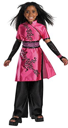 Girls Cheetah Galleria Deluxe Kids Child Fancy Dress Party Halloween Costume, S (Cheetah Superhero Costume)