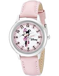 美亚:Disney Kids 迪士尼米妮时间老师系列不锈钢手表 配粉红色皮革带 W000038,原价:$28.7,现价:$12.52