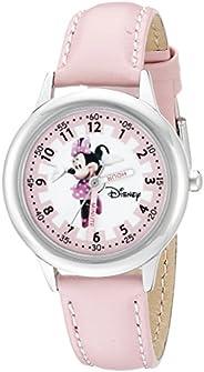 Disney Kids' W000038 Minnie Mouse Stainless Steel Time Teacher W