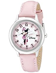 Disney Kids\' W000038 Minnie Mouse Time Teacher Stainless Ste...