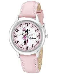 Disney Kids' W000038 Minnie Mouse Stainless Steel Time Teacher Watch