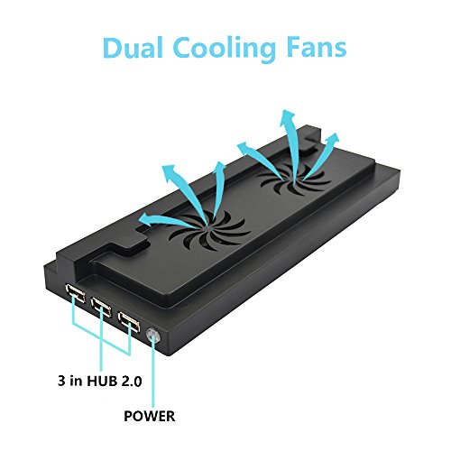 Xbox One S Vertical Stand With Cooling Fan Fastsnail