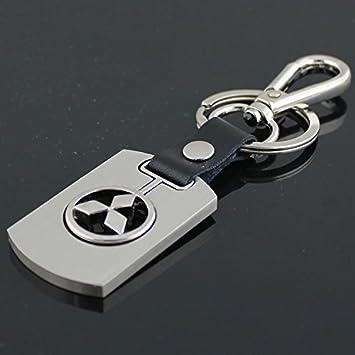 Amazon Champled Mitsubishi Emblem Keychain Keyring Logo Fashion