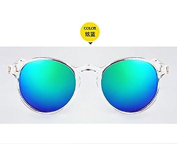 VVIIYJ Gafas de Sol de Colores Mujer Cara Redonda Miopía ...