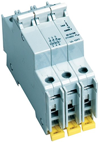 Breaker 480v 20 Amp - American Electrical C20A3P 20-Amp 3-Poles DIN Rail Mounted Circuit Breaker