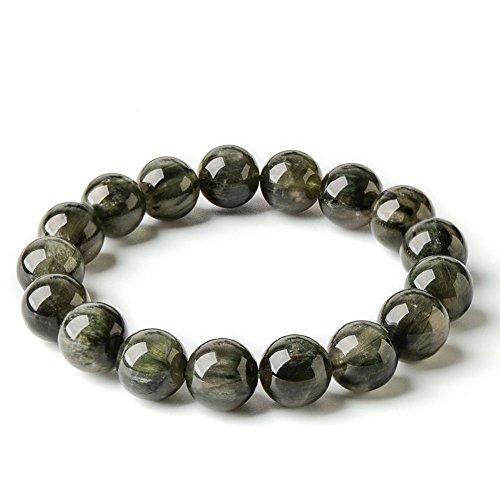 Green Rutilated Quartz (Jan Dee Natural Genuine Semi-Precious Green Quartz Rutilated Crystal Bracelet Prayer Beads)