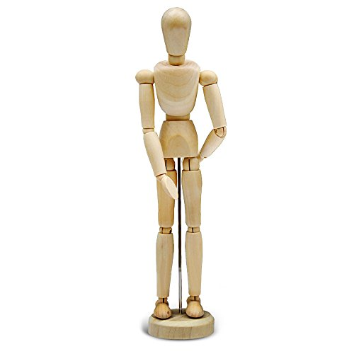 YoFit Wooden Human Mannequin (Unisex) 5.5 inches Tall