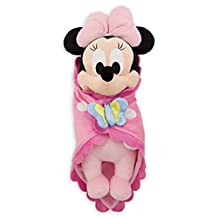 Disney Theme Park Baby Minnie Mouse in a Blanket Plush Doll NEW