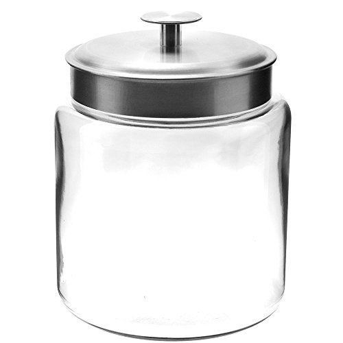Anchor Hocking 95541 Mini Montana 96 Oz. Glass Jar with Metal - Ounce Jar 96