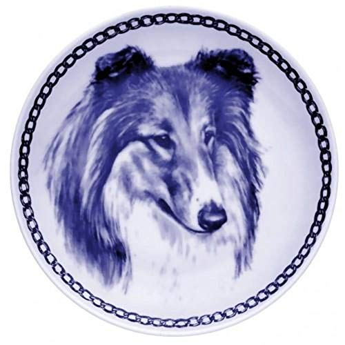 Collie - Rough Sable/White - Dog Plate made in Denmark from the finest European Porcelain. Premium Quality and Design from Lekven. Perfect Gift For all Dog Lovers. Size - 7.61 inches.
