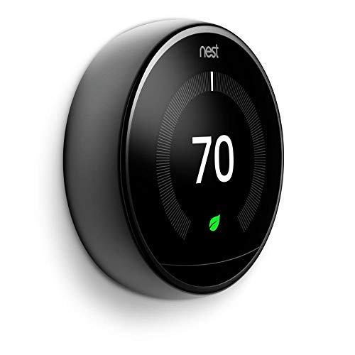 Nest Learning Thermostat 3rd Generation Mirror Black 2 Pack Amazon Com Industrial Scientific