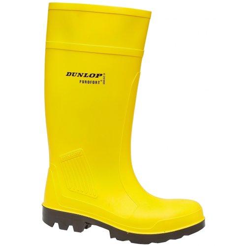 Dunlop Purofort Professional  S5 C462241 - Botas  de caucho unisex Amarillo
