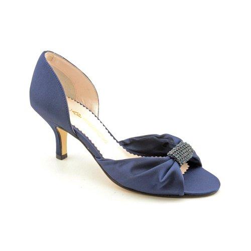 (Caparros Sharelle Blue Satin Dress Shoes 8)
