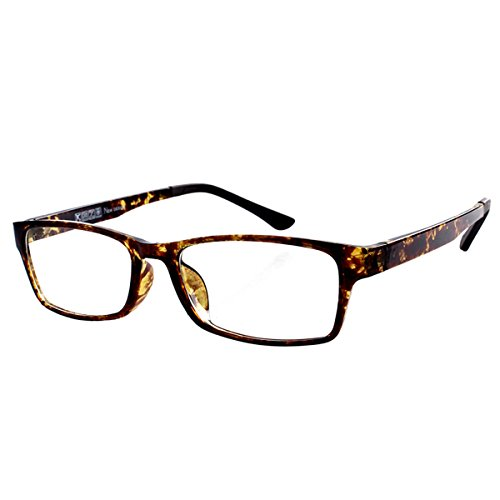 Reading Glasses Mens Womens Everyday use Readers Eyeglasses Office Eyewear Tortoise Frame Reading Glasses +6.00