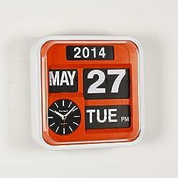 FARTECH Auto Calendar Flip Clock AD-640 (Orange)