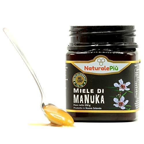 Miele di Manuka 100+ MGO 250 gr. Prodotto in Nuova Zelanda