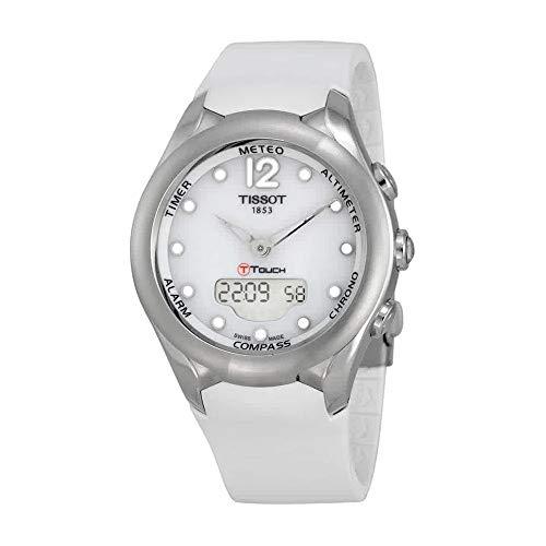 Tissot Rubber Wrist Watch - Tissot T-Touch Solar White Dial White Rubber Ladies Watch T0752201701700