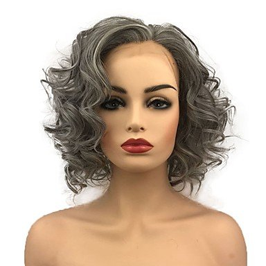 Amazon Com Wigs Synthetic Lace Front Curly Bob Haircut