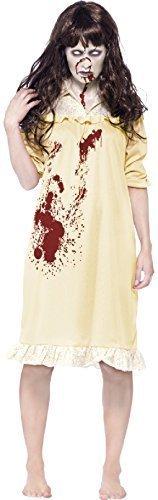 Fancy Me Women's Zombie Possessed Demon Exorcist Halloween Fancy Dres Costume 8-10 Yellow -