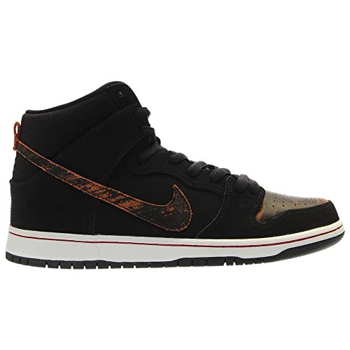 NIKE Skateboard Shoes Dunk High Pro Black/Black - Red