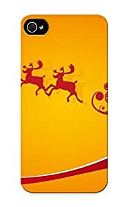 Appearance Snap-on Case Designed For Iphone 5/5s- Silhouette Of Santas Sleigh (best Gifts For Lovers)