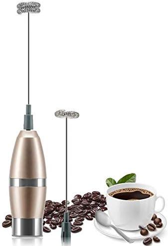 ミルク泡立て器、ハンドヘルドバッテリーラテのための2つのステンレス鋼泡だて器で電気泡メーカーを運営し、ホットチョコレート