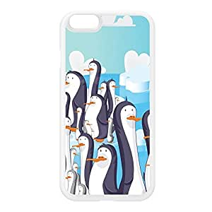 Cheeky Penguins White Silicon Rubber Case for iPhone 6 by Nick Greenaway + FREE Crystal Clear Screen Protector wangjiang maoyi