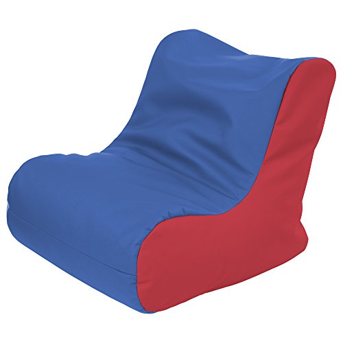 ECR4Kids SoftZone Youth Bean Bag Soft Seat, Blue and Red
