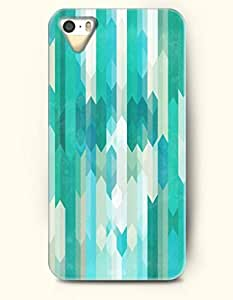 OOFIT Phone Skin Apple iPhone case for iPhone 5 5s ( 5C EXCLUDED ) -- Teal and Turquoise Geometric Pattern