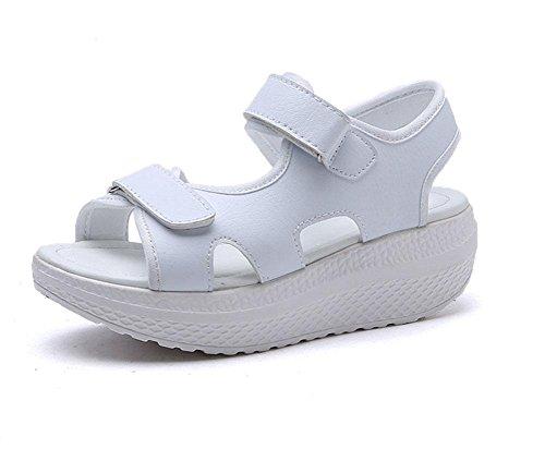 CN35 5 4 fondo piantati con selvatici parola scarpe studente fibbia sandali donne UK3 spiaggia US5 5 pendenza scarpe Aprire pesante EU35 1aAwR6qxw