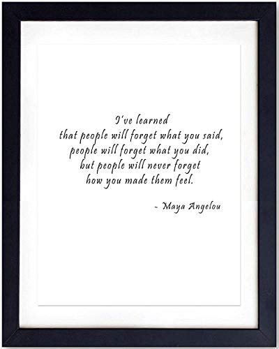 (Inspirational Wall Art Print Typography - 8x10 Unframed Photo - Makes a Great Gift - Chic Home Decor - Maya Angelou Quote)