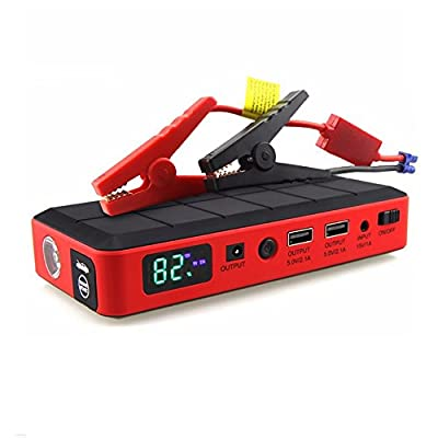2600A Portable Car Jump Starter,LED Flashlight - Super Lightweight & Ultra Compact - Ultimate Safety Protection