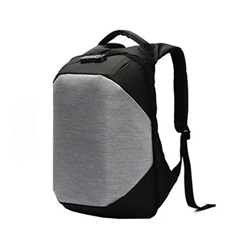 Vbiger Oxford Outdoor Rucksack Anti Diebstahl Schultertasche Großraum Tagesrucksack Beiläufig Reisetasche Silber NM2KAOA