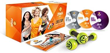Zumba Fitness Gold Live It Up DVD Set for The Baby Boomer Generation