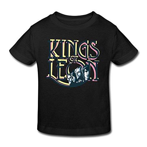 Danielle Kings of Leon Kid's T-Shirts For Girls & Boys T-Shirt Black 5-6 Toddler