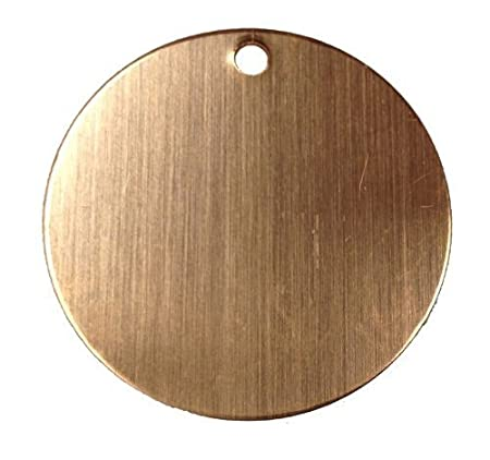 RMP Stamping Blanks, 1 Round W/hole, 16 Oz. Copper, 24 Ga, 30 Pack 1 Round W/hole Rose Metal Products