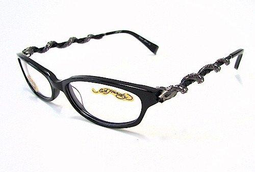 ED HARDY EHO710 Eyeglasses Vintage Tattoo EHO 710 Black/Crystal ...